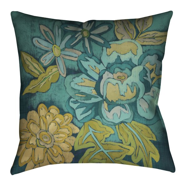 Wayfair Teal Throw Pillows : LauralHome Teal Bouquet II Outdoor Throw Pillow & Reviews Wayfair.ca