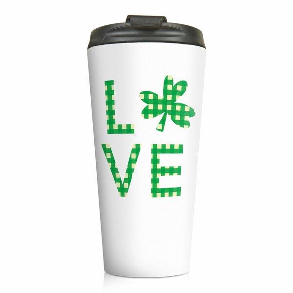 Mccay Buffalo Check Love Clover Travel Mug by Ebern Designs