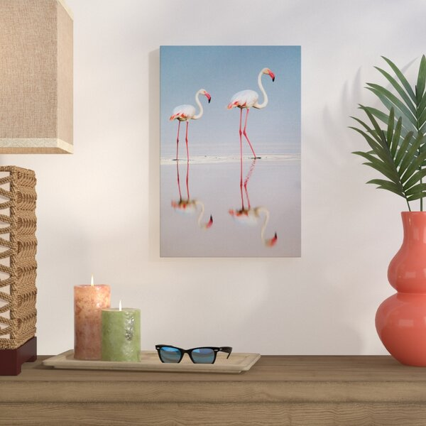 Greater Flamingos I, Ngorongoro Conservation Area, Crater Highlands, Arusha Region, Tanzania Photographic Print on Wrapped Canvas by Bay Isle Home