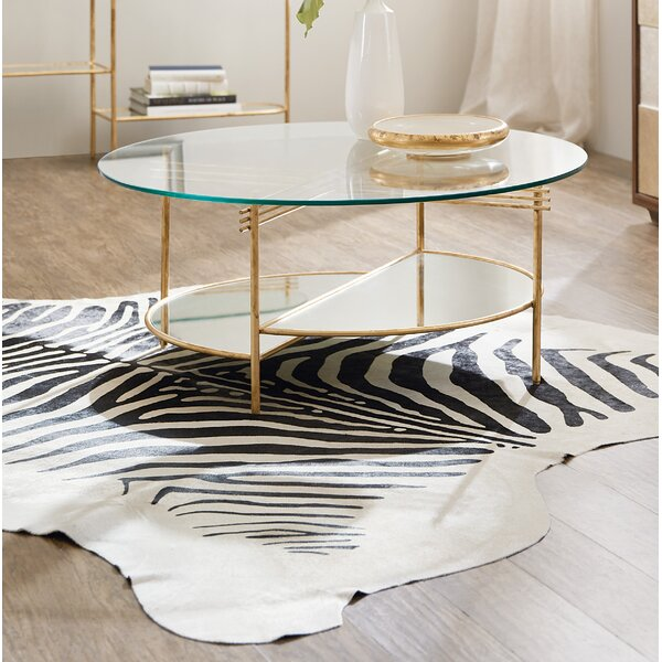 Well Balanced Round Coffee Table With Tray Top By Hooker Furniture