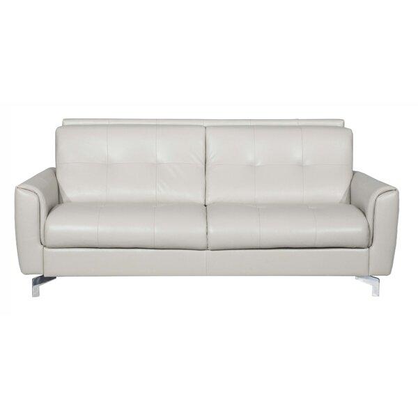 Bensonhurst Leather Sleeper Sofa by Latitude Run