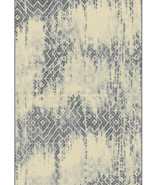 Hadlock Persian Gray/Ivory Area Rug by Bungalow Rose