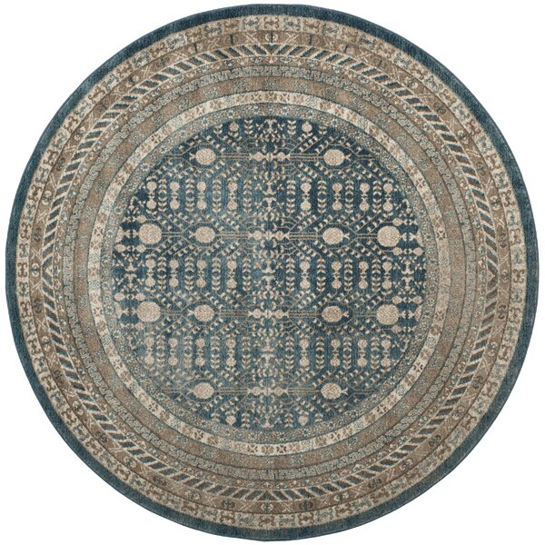 Bristol Woods Blue/Beige Area Rug by Charlton Home