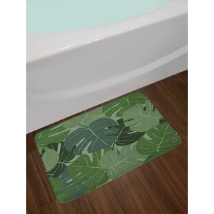 Camouflage Forest Green Bath Rug