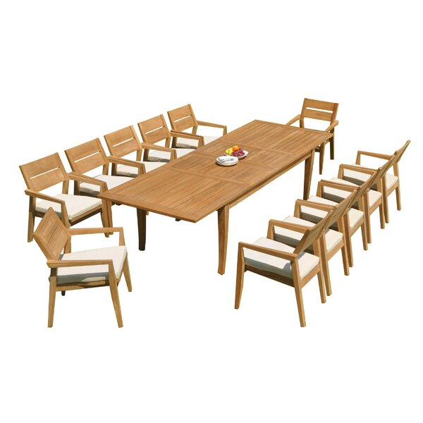 Atnas 13 Piece Teak Dining Set