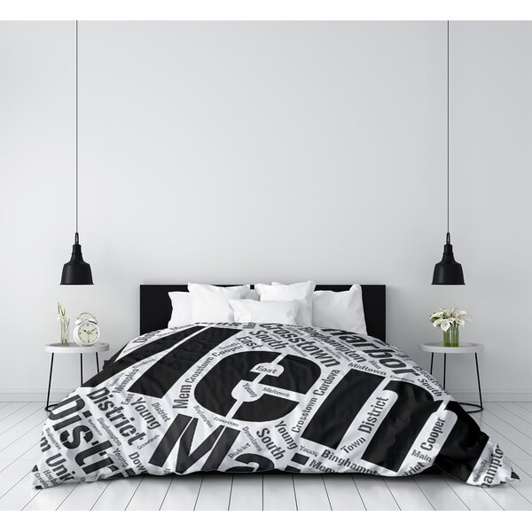 Memphis Tennessee Districts Single Reversible Duvet Cover