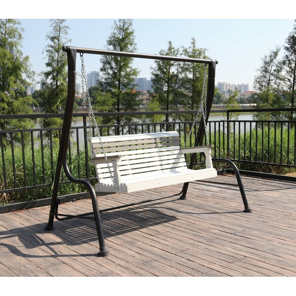 Orrwell Composite Wood Outdoor Porch Swing by Freeport Park