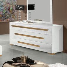 Marley 3 Drawer Dresser with Mirror by Wade Logan