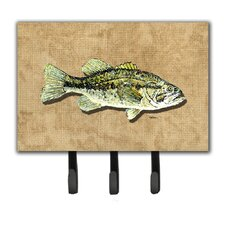 Small Mouth Bass Key Holder by Caroline's Treasures