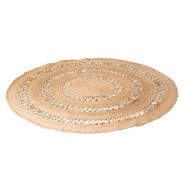 Azaria Hand Woven Jute Brown Area Rug by Bungalow Rose