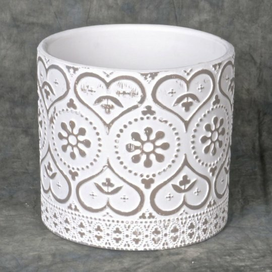 Lantana Lace Drawing Ceramic Pot Planter by Ophelia & Co.