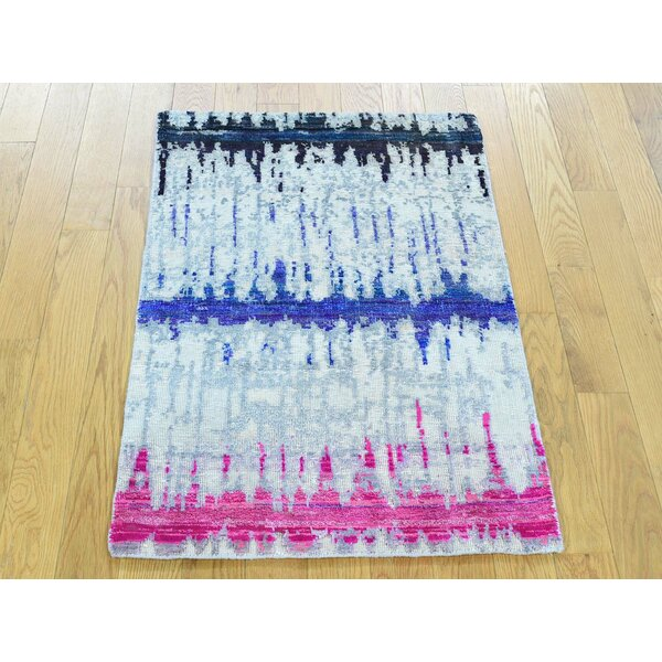 One-of-a-Kind Boulton Rainbow Hand-Knotted Wool Area Rug by Isabelline