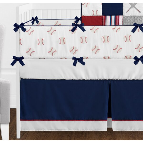 Baseball Patch 9 Piece Crib Bedding Set by Sweet Jojo Designs