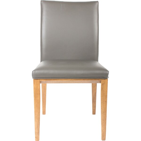 Fort Worth Genuine Leather Upholstered Dining Chair (Set of 2) by Corrigan Studio