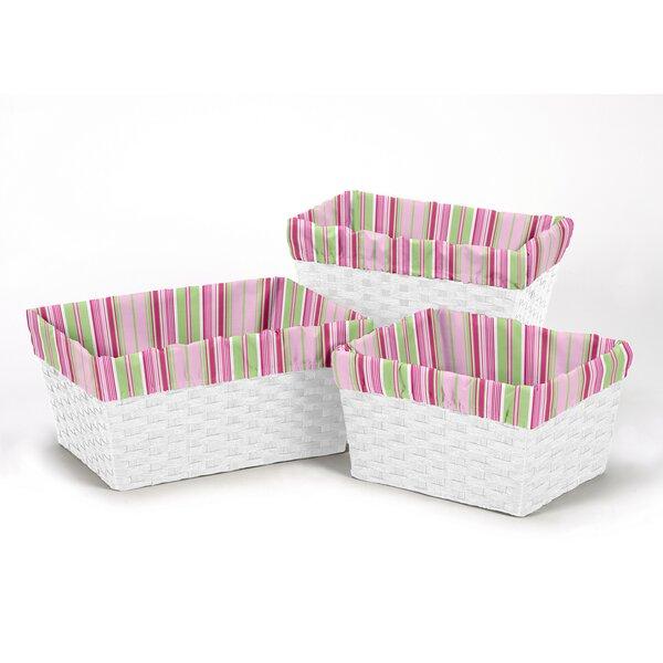 Jungle Friends Basket Liners by Sweet Jojo Designs