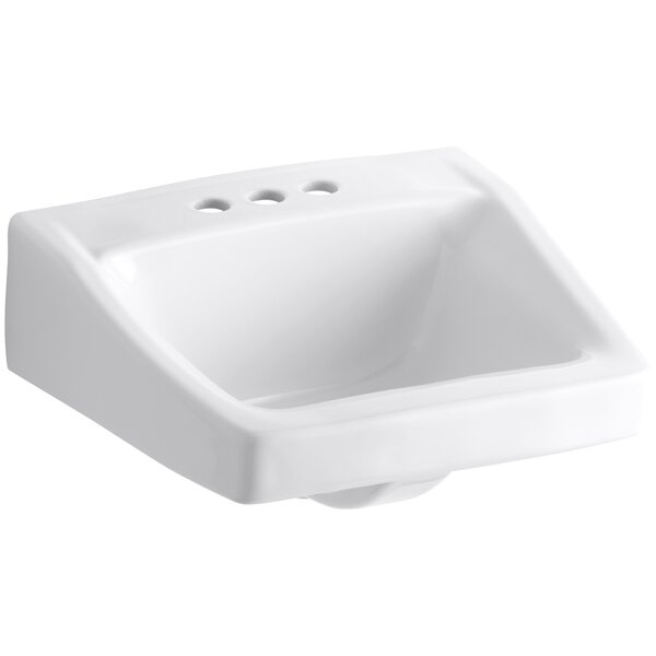Chesapeake Ceramic 20 Wall Mount Bathroom Sink with Overflow by Kohler