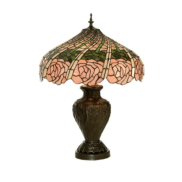 Rose Swirl 24 Table Lamp by Meyda Tiffany