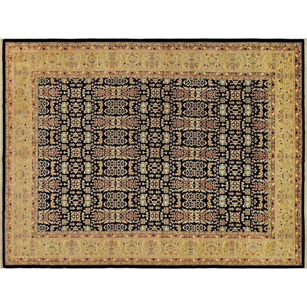 Badham Hand-Knotted Wool Dark Gold Area Rug by Bloomsbury Market