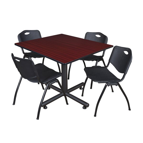 Marin 48 Square 5 Piece Breakroom Table and Chair Set by Symple Stuff
