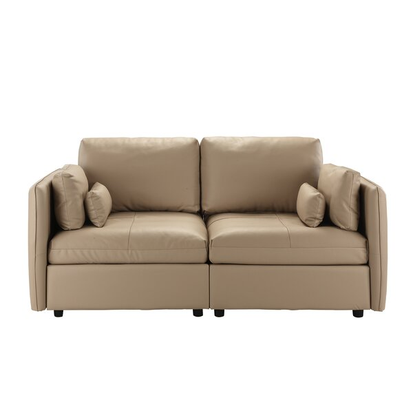 Campo Leather Loveseat by Ebern Designs