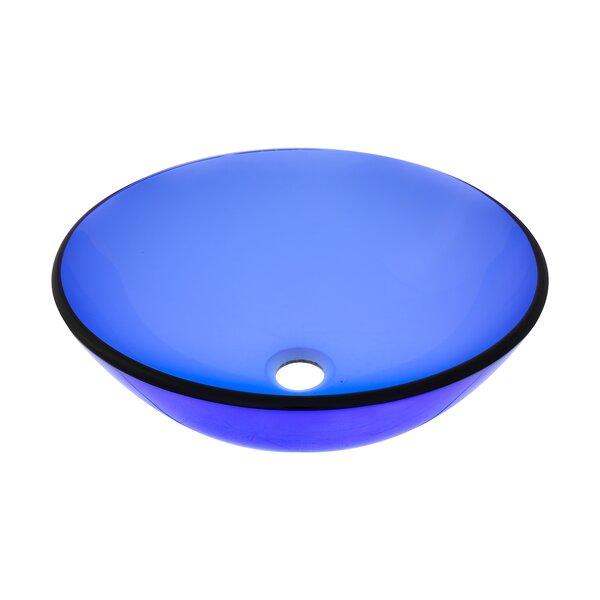 Glass Circular Vessel Bathroom Sink by Novatto