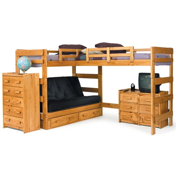 L-Shaped Bunk Bed Configurable Bedroom Set by Chelsea Home
