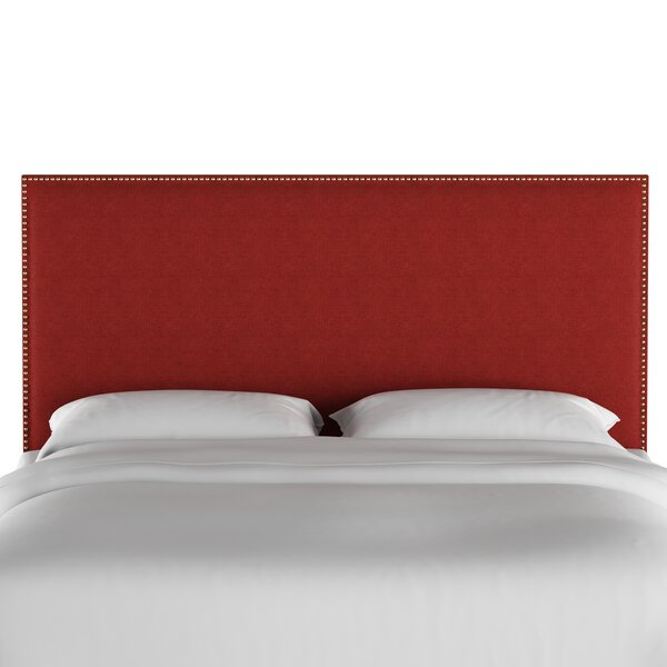 Gallia Nail Button Border Upholstered Panel Headboard by Darby Home Co