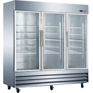 Commercial Glass Door Reach-In 72 cu. ft. Energy Star Counter Depth All-Refrigerator by EQ Kitchen Line