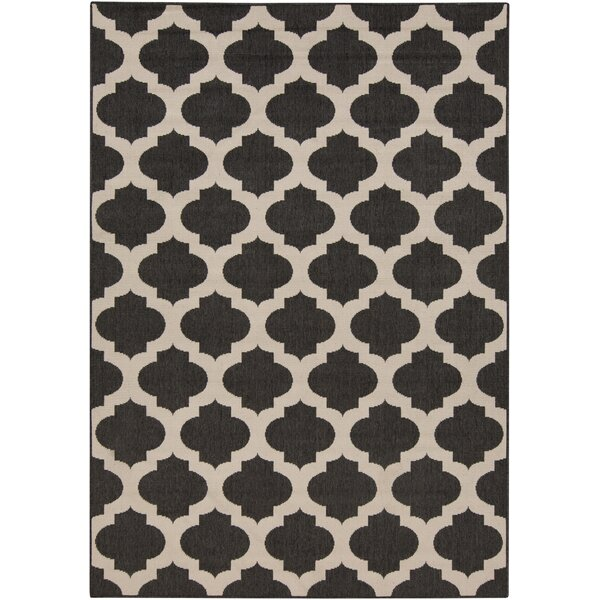 Modern Trellis Hand-Woven Ink Area Rug by Surya