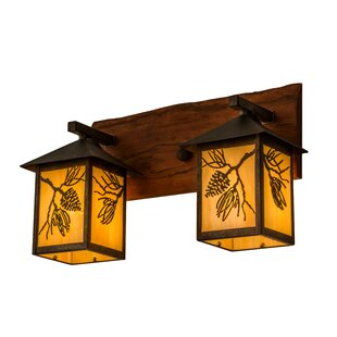 Affordable Greenbriar 2-Light Outdoor Wall Lantern By Meyda Tiffany