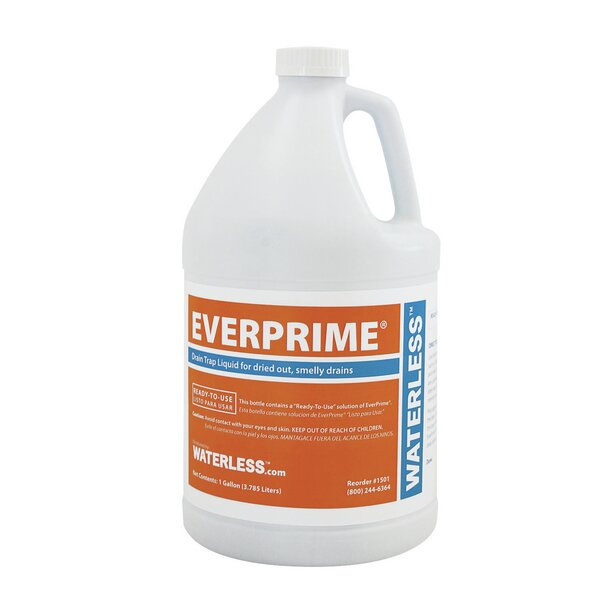 EverPrime Gallon Drain Trap Liquid by Waterless