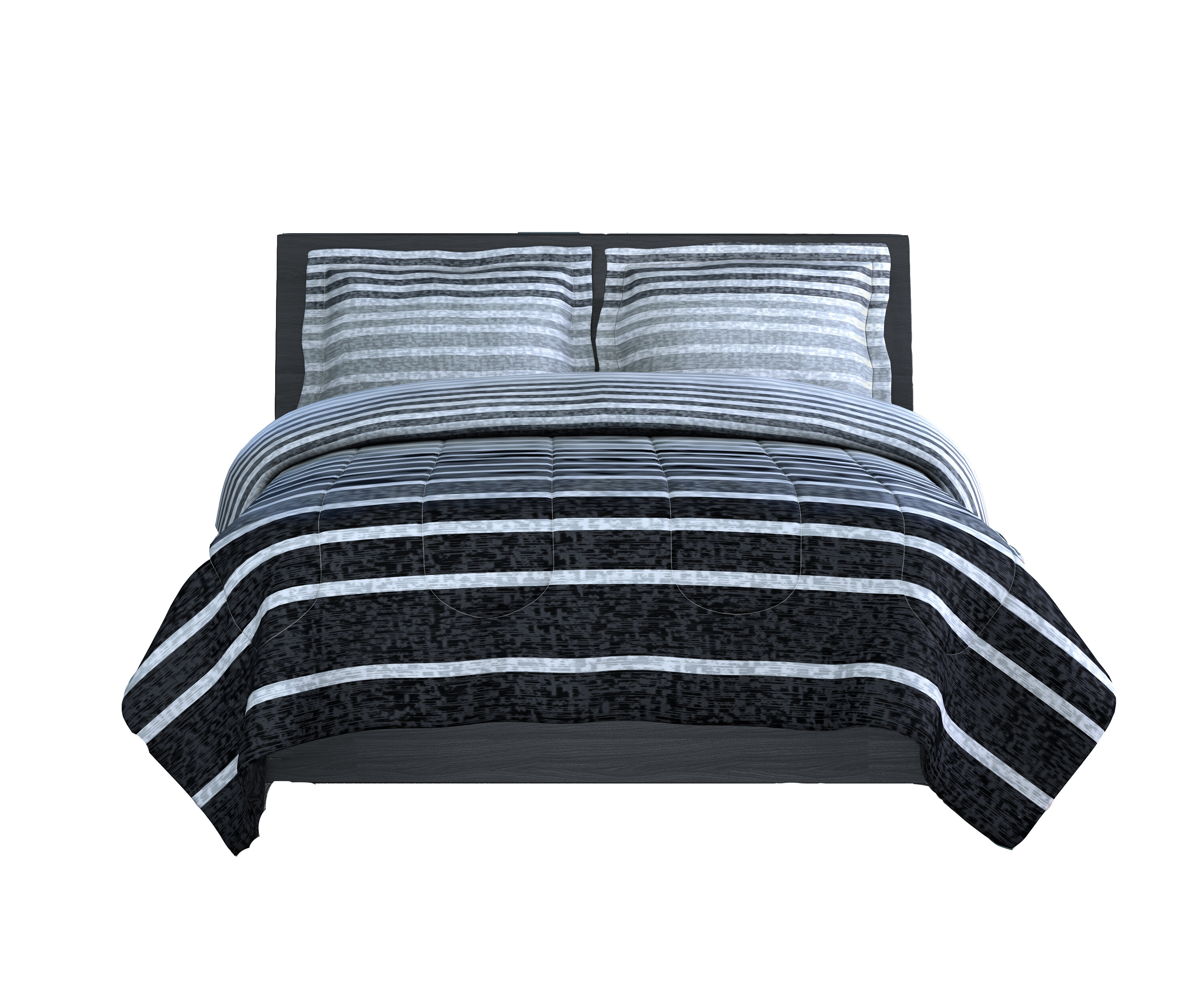 Bedding Modern Sporty Soft Light Blue Navy Grey White Stripe Comforter Set Pillows New Home Furniture Diy Mhg Co Ke