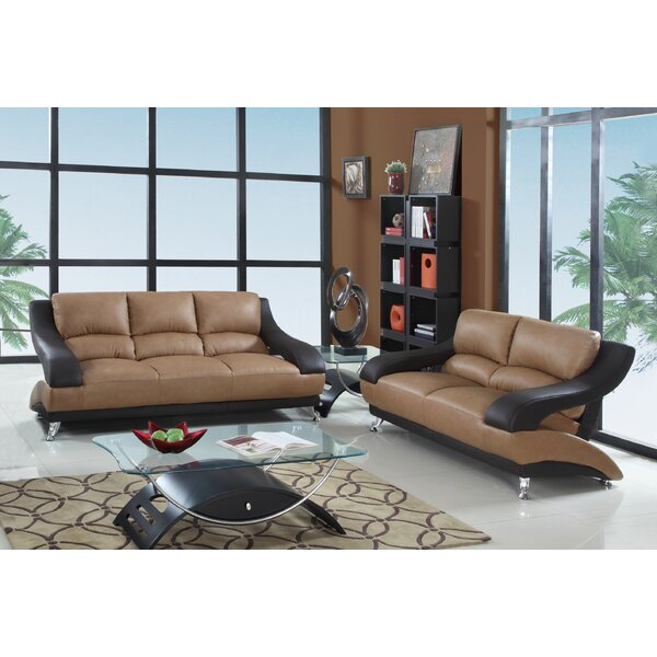 Brantley Luxury 2 Piece Living Room Set by Latitude Run