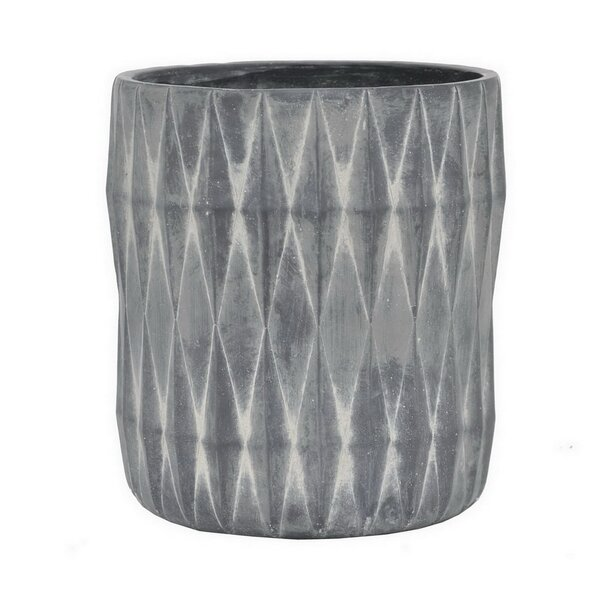 Marble Look Ceramic Pot Planter by Three Hands Co.