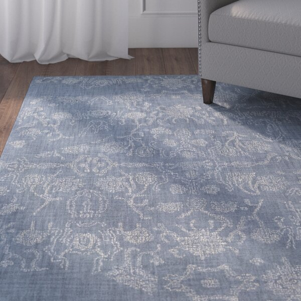 Alexis Hand-Tufted Denim/Butter Area Rug by Charlton Home