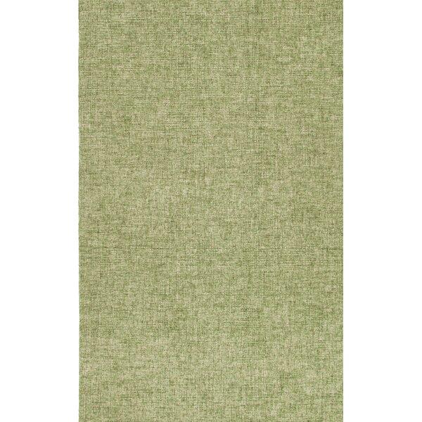 Kirts Hand-Woven Wool Green Area Rug by Bayou Breeze
