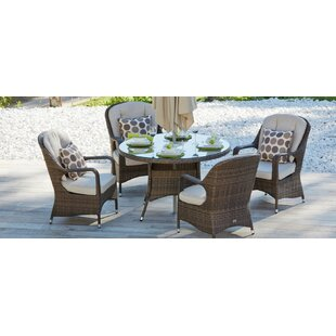 Fazio 5 Piece Dining Set with Cushion By Red Barrel Studio