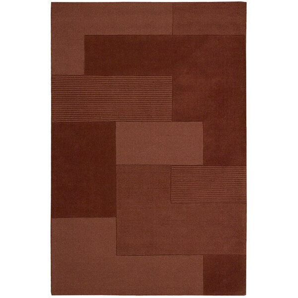 Bowery Hand-Tufted Grid Paprika Area Rug by Calvin Klein