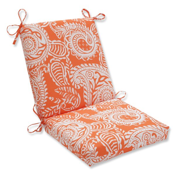 Pillow Perfect Indoor/Outdoor / Indoor Addie Terra Cotta Squared Corners Chair Cushion by Pillow Perfect