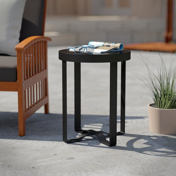 Nicki Glass Side Table by Wrought Studio