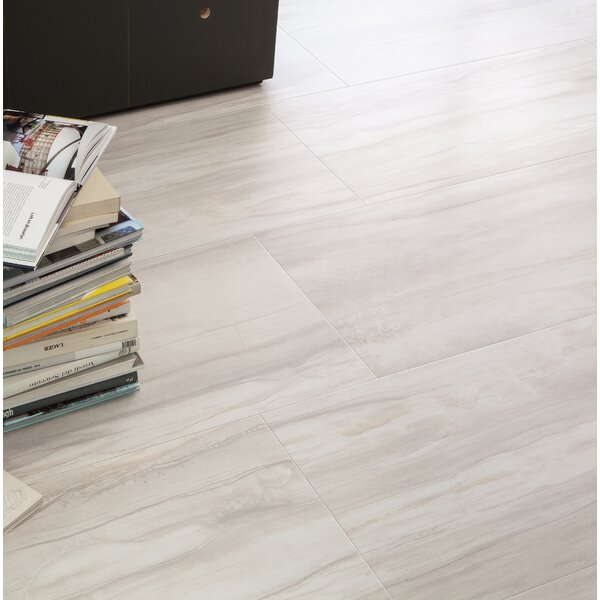 Athena 12 x 24 Porcelain Wood Look/Field Tile in Pearl by Bedrosians