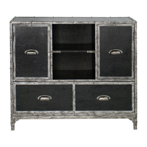 Rutherford Leather Accent Chest by 17 Stories