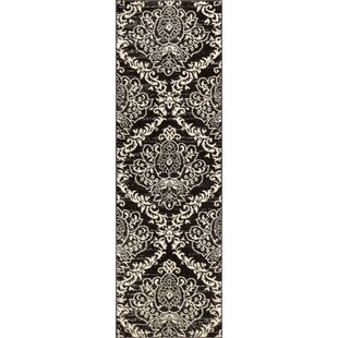 Newquay Magnolia Black/White Area Rug By House of Hampton