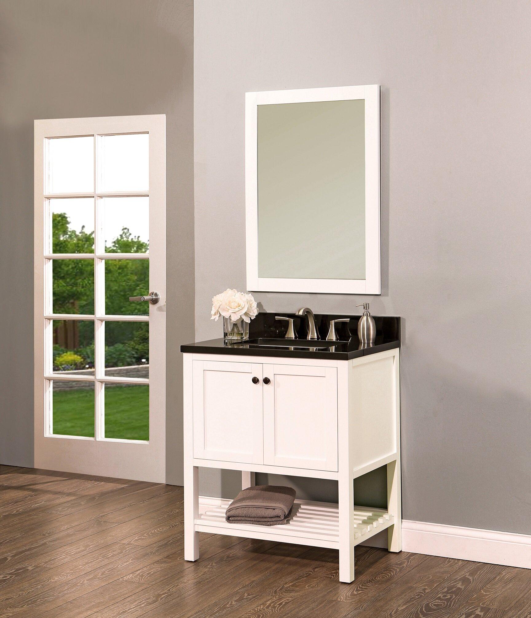 Ngy Stone Cabinet Hampton Bay 30 Single Bathroom Vanity With Mirror Wayfair