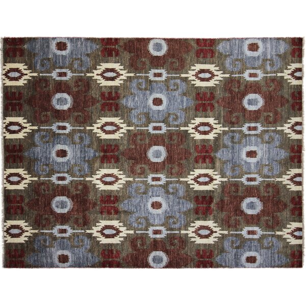 One-of-a-Kind Lona Hand-Knotted Rectangle Brown Area Rug by Isabelline