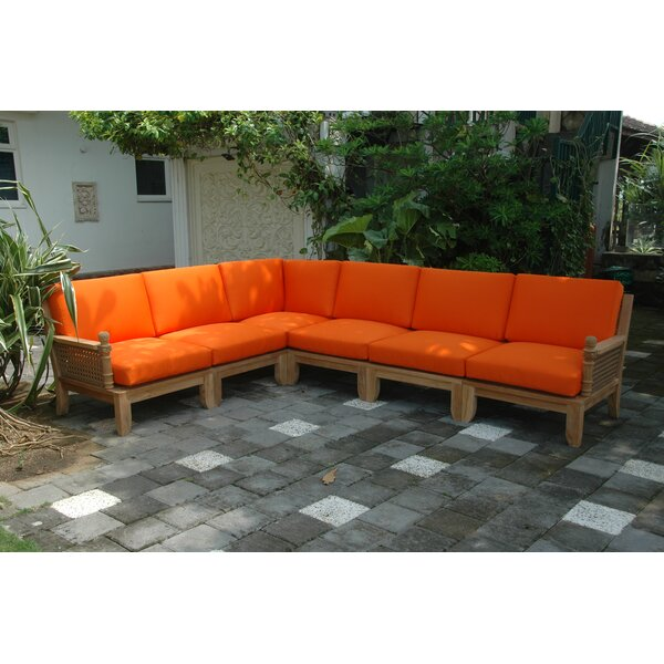 Luxe Modular Teak Sectional by Anderson Teak