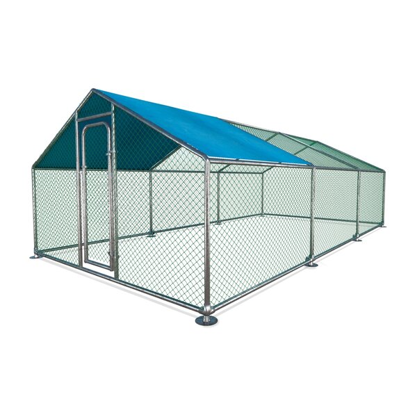 Thaddeus Metal Walk-in Chicken Coop/Chicken Run with Waterproof Cover by Tucker Murphy Pet