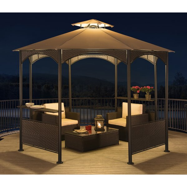 10 Ft. W x 10 Ft. D Steel Permanent Patio Gazebo by Sunjoy