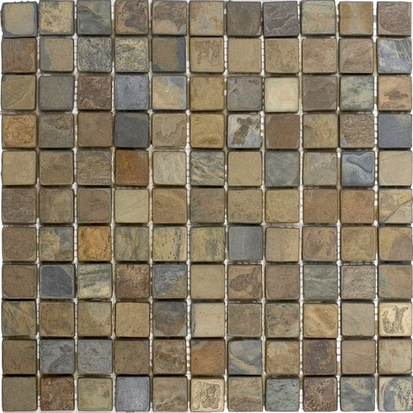 1 x 1 Slate Mosaic Tile in California Rustic by Epoch Architectural Surfaces