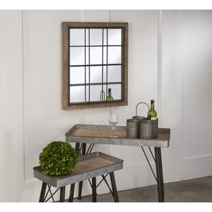 Gracie Oaks Bearup Rustic Grate Wall Accent Mirror